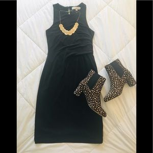 LOFT Black Fitted Dress - Size XS Petite XS